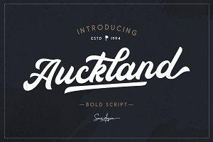 Auckland - Bold Script