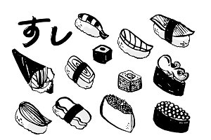 sushi illustration vector
