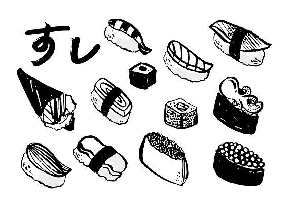 Sushi Illustration Vector