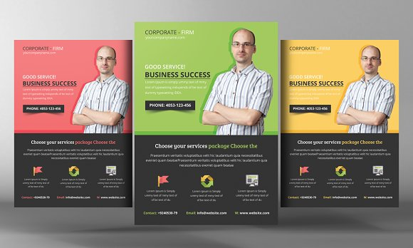 Business Consulting Flyer Flyer Templates Creative Market - Consulting brochure template