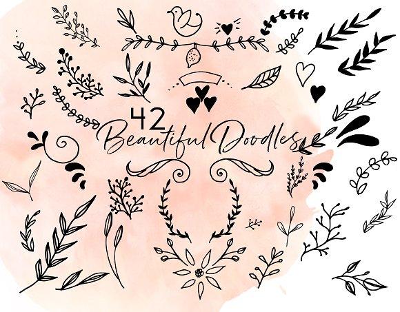 42 Beautiful Doodles Hand Drawn