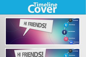 Hi Friends!  Facebook Cover Template