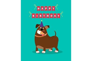 Funny dog and ice cream card