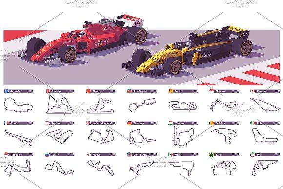 Vector Motor Racing Tracks