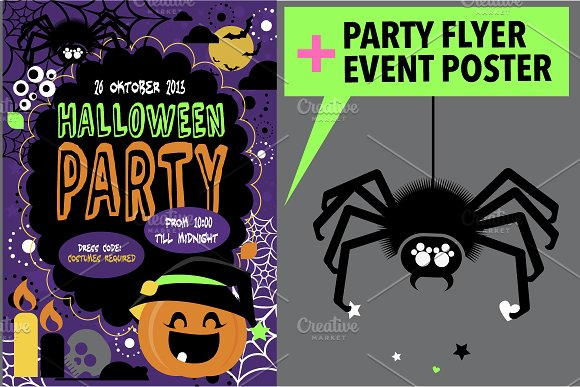 Halloween Party Flyer + Poster
