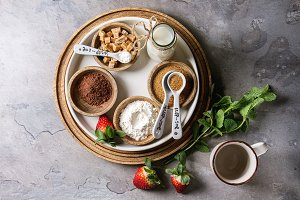 Ingredients for cooking mug cake