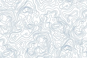 topographic map seamless pattern​