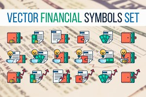 Financial Symbols Set