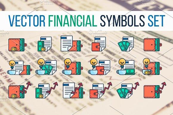 Financial Symbols Set