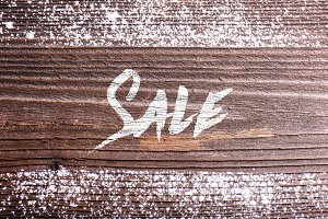 Chalk sale sign