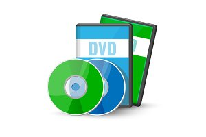 DVD digital video discs cases for storage, versatile optical disc