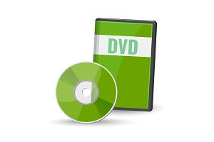 DVD digital video disc case for storage, versatile optical disc