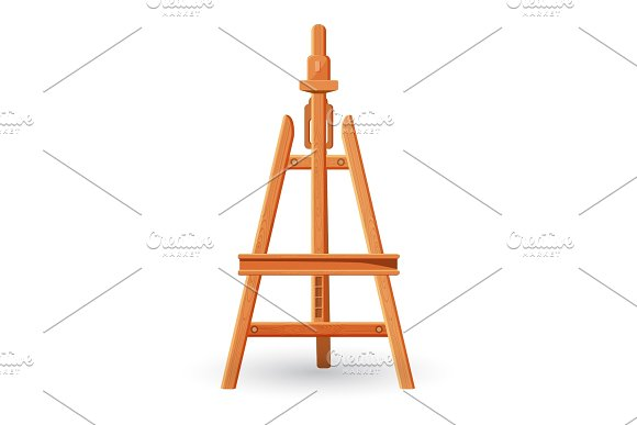 Wooden Easel Upright Support Used For Displaying Or Fixing Painting
