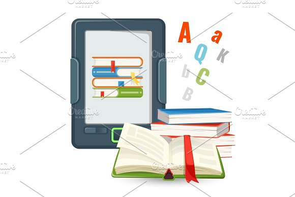 Ebook Device Contains Millions Of Paper Books Published In Digital