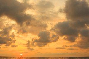 stunning photo of sea sunset