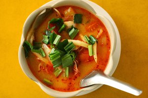 Indian curry soup.