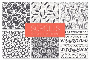 Scrolls. Seamless Patterns Set