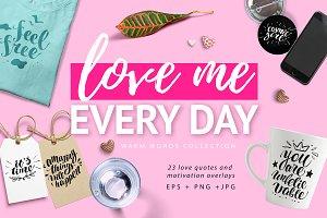 love lettering overlays, PNG+EPS+JPG