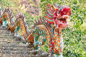 asian dragon sculpture