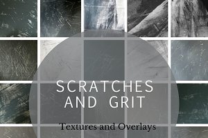 Scratches & Grit Photoshop Overlays