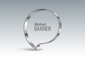 Shiny metal vector banner. eps 10