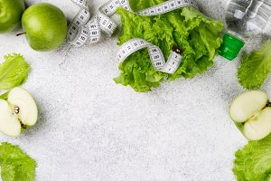 Healthy eating and slimming concept