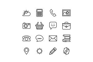 Set1 Line phone icons