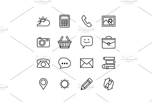 Set1 Line Phone Icons