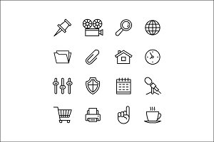 Set2 Line phone icons