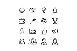 Set3 Line phone icons