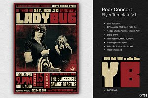 Rock Concert Flyer Template V1