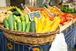 Fresh Produce At A Market In Southern France