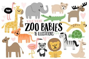 Zoo Babies - Animal Illustrations