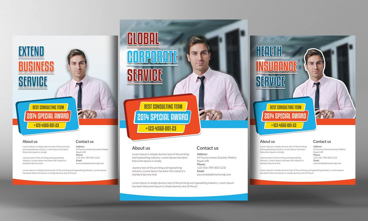 Business service flyer template flyer templates creative market cheaphphosting Images