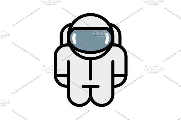 Astronaut Robot Toy Vector Icon