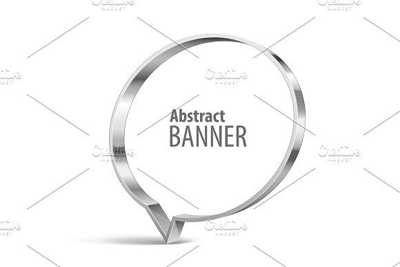 Shiny metal vector banner