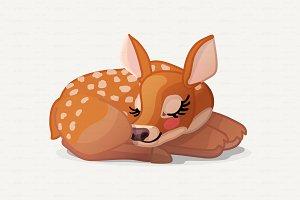 ♥ vector Red deer, Cervus Elaphus