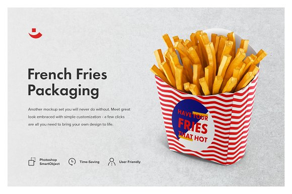 French Fries Packaging Mockup Set