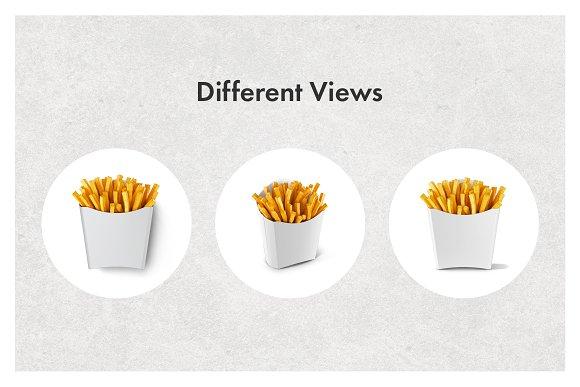 French Fries Packaging Mockup Set Product Mockups Creative Market