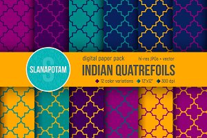 INDIAN QUATREFOIL digital paper pack