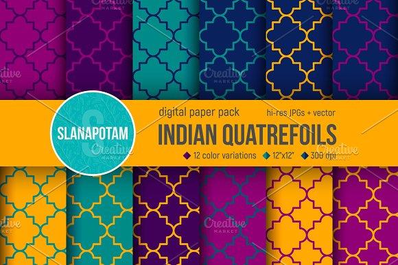 INDIAN QUATREFOIL Digital Paper Pack