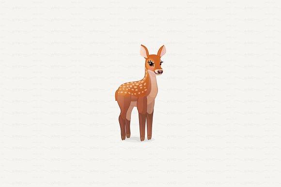 Vector Red Deer Cervus Elaphus