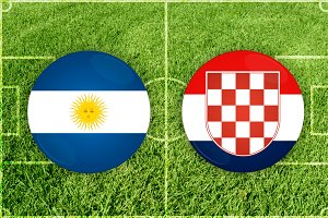 Argentina vs Croatia football match