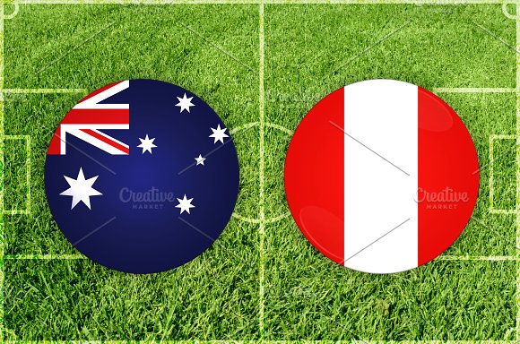 Australia Vs Peru Football Match