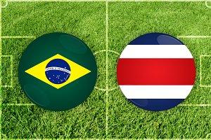 Brazil vs Costa Rica football match