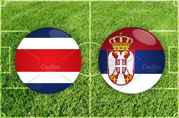 Costa Rica Vs Serbia Football Match