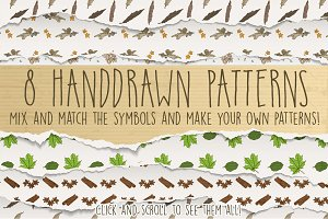 8 Handdrawn Decorative Patterns