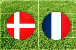 Denmark vs France football match