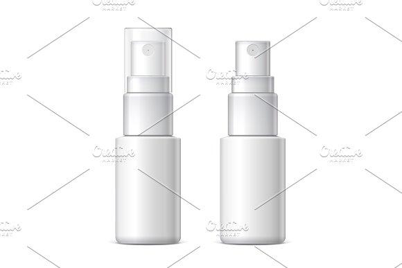 Mock up White plastic bottle