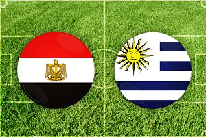 Egypt vs Uruguay football match